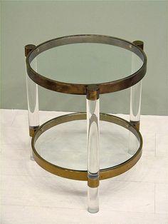 Vintage Lucite Table by Charles Hollis Jones #GISSLER #interiordesign