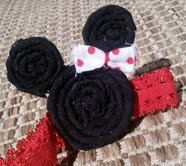 Minnie Mouse Fabric Flower Headband by RetroBloomBoutique on Etsy, $5.50 @Samantha Harris