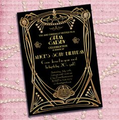 63 Best The Great Gatsby Invitations Templates Fonts Images On