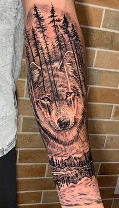 Wolf Tattoo Forearm, Wolf Tattoo Sleeve, Forarm Tattoos, Small Forearm Tattoos, Mom Tattoos, Skull Tattoos, Badass Tattoos, Tattoos For Guys, Tatoos