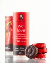 chili love chocolate infused with Lotus Wei flower essences ... doesn't get better than this!