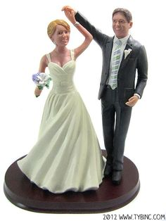 Ballroom Dancing Wedding Cake Topper  From the Younique Boutique
