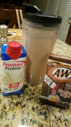 to Make Your Fave Starbucks Drink at Home Guilty pleasure This was AMAZING.tastes just like a root beer float also add HWCGuilty pleasure This was AMAZING.tastes just like a root beer float also add HWC Smoothie Drinks, Healthy Smoothies, Healthy Drinks, Smoothie Recipes, Healthy Food, Healthy Recipes, Protein Shake Recipes, Protein Foods, High Protein