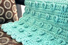 Free Crochet Pattern for Lilypad Baby Blanket Add a crocheted frog or turtle for an adorable gift.