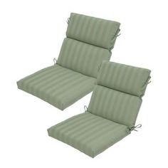 Hampton Bay Bayou Solid High Back Outdoor Chair Cushion The Home Depot