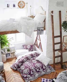 And, OF COURSE, my dorm room will totally have 16-foot ceilings under which I'll make a bed defy gravity. | Community Post: Pottery Barn Has No Idea What Actual College Dorms Are Like