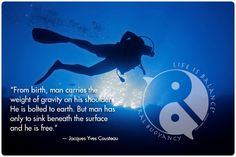 Quotes About Scuba Diving | Inspirational #scuba #diving #quote | Quotes to Live & Play By