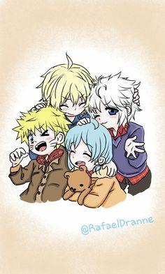 Mikaela Hyakuya, Killua Zoldyck, Nagisa Shiota & Naruto Uzumaki :3.. oww they're so adorable ❤