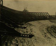 Ohio State University Stadium under construction in 1922 :: Columbus in Historic Photographs