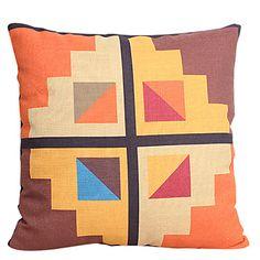 Kolorowe geometryczne Bawełna / Pościel dekoracyjne poduszki Okładka – USD $ 12.99