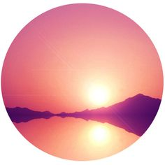 Celestial Sunset Art Print ($20) ❤ liked on Polyvore featuring home, home decor, wall art, backgrounds, decor, circle, filler, image, round and borders