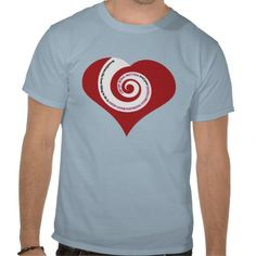 """FOLLOW YOUR HEART 001a (SPIRALLING WORDS ON HEART) Tee ShirtsPerfect for the person who needs more intuitive direction, this design features a big heart with words spiraling to the center which read """"Sometimes the best thing to do is stop overthinking everything and just follow your heart"""".  It's sweet and it's true!"""
