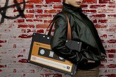 Retro Cassette Tape Shoulder Bag--lol I want! Designer Handbags Outlet, Wholesale Designer Handbags, Cheap Michael Kors, Handbags Michael Kors, Black Handbags, Purses And Handbags, Uggs, Cool Stuff, Random Stuff
