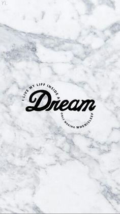 White marble wallpaper dream