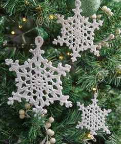 Beautiful Lacy Snowflake Ornaments