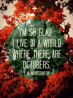 "exactly how I'm feeling today... <3 October.  ""Me, too! Without October, I wouldn't be here ☺!""♥♥"
