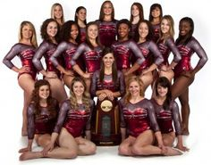 Alabama rolls in sixth national title! 2012 NCAA Women's Gymnastics Champions - Alabama repeats as National Champions when the Crimson Tide squeezed by Florida for the crown. Way to ROLL ladies! Gymnastics Team, Cheerleading, Female Gymnast, Team Pictures, University Of Alabama, Alabama Crimson Tide, Roll Tide, Sports Women, Olympics