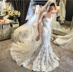 Lace Wedding Dresses Beautiful Wedding Dresses Wedding Dresses Mermaid Wedding Dresses Wedding Dresses With Appliques Wedding Lace Mermaid Wedding Dress, Bridal Wedding Dresses, Dream Wedding Dresses, Wedding Venues, Dress Lace, Lace Weddings, Steven Khalil Wedding Dress, Beautiful Gowns, Dream Dress