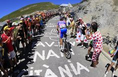 There were plenty of fans lining the roads in the Pyrenees to encourage the Tour peloton.