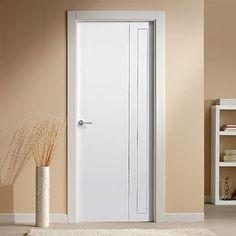 "The beautiful prefinished San Rafael Lacada 922 FD30 Fire Door with ""D"" groove designs. #directdoors"