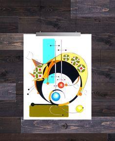 Letter O, Mid Century Modern Cat Alphabet, Giclee Print by Domini – Domcats Illustration Art, Illustrations, Mid Century Modern Art, Cat Drawing, Giclee Print, Cat Lovers, Mid-century Modern, Alphabet, Symbols