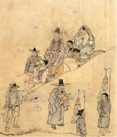 Kim Hong-do Wedding March Historical Artwork, Painting Style, Korean Art, Culture Art, Asian Artwork, China Art, Painting, Art, Art History
