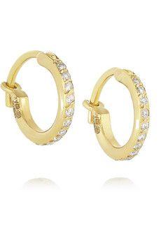 Ileana Makri 18-karat gold diamond hoop earrings | NET-A-PORTER