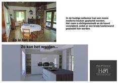 Digitale verkoopstyling   Huis & Interieur. De huidige eetkamer wordt ruime keuken.
