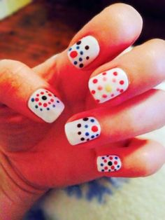Shellac - Cream Puff with Hippy Dotting