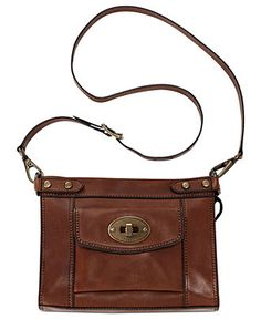 Fossil Handbag, Vintage Revival Convertible Leather Crossbody - Crossbody & Messenger Bags - Handbags & Accessories - Macy's $178