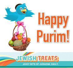 The Four Mitzvot of Purim Happy Purim, Sweet Quotes, The Four, Judaism, Treats, Holidays, Bird, Sweet Like Candy, Goodies