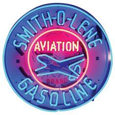 Smith-O-Lene Gas Neon Bar Sign - Sporty's Wright Bros