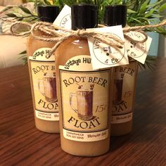 vintagehill- love the root beer float shower gel!