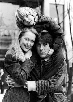 On set with Meryl Streep & Dustin Hoffman - Kramer vs. Kramer (Robert Benton, 1979)