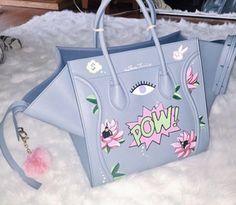 This light blue purse
