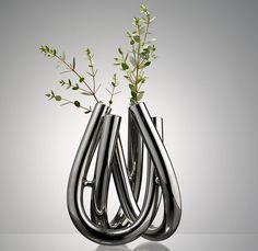 DesignBuy.cz - BLACKBOX váza Triu stříbrná