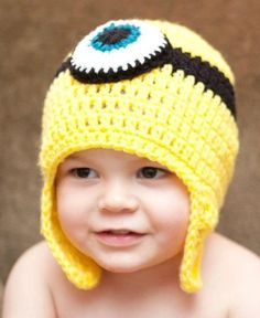 Custom order By purplewhimsy on etsy- despicable me minion inspired hat