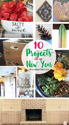10 Cool Projects for the New Year to spruce up your space or give as a gift. If you are looking for some really fun crafts & DIY projects, these are perfect!