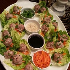 cleanfoodcrush  Ginger Turkey Meatballs on Butter Lettuce Leaves. {All-time Favorite! Put these on your menu this week!}