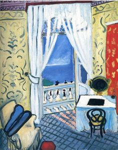 Interior With A Violin Case Henri Matisse Date: 1919 Style: Expressionism Genre: interior