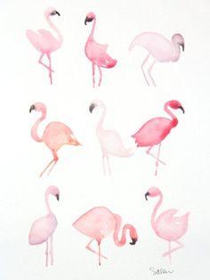 """Képtalálat a következőre: """"flamingo aquarell"""""""