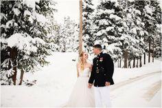 Breckenridge winter wedding, snowy winter wedding