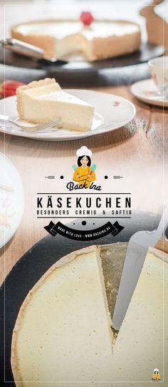 Das ist der wohl cremigste Käsekuchen nach klassischer Art, den du backen kannst! Herrlich vanillig und mit ein wenig Rum in der Füllung kannst du deine Kaffeegäste begeistern. Ein Klassiker!   BackIna.de