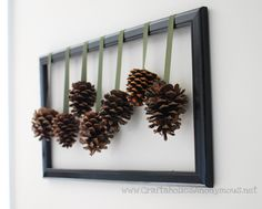 love the pine cone frame from @Linda  Gardner at Craftaholics Anonymous...
