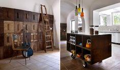 Ideias de Decoração para Interiores com Caixotes de Madeira