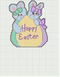 SISTER BUNNIES HAPPY EASTER WALL HANGING 2/2