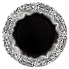 Coordinate your wedding reception rehearsal dinner bridal shower luncheon party and · Classic PlatesBridal Shower LuncheonDamask ...  sc 1 st  Pinterest & Black \u0026 White Damask Dinner Plates | Deni Grad Party | Pinterest ...