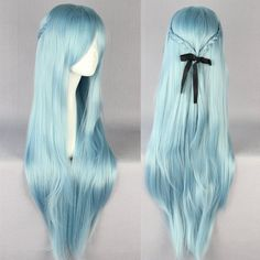womens sexy cosplay harajuku wig long straight silky hand weave blue lolita hair in Health & Beauty, Hair Care & Styling, Hair Extensions & Wigs   eBay