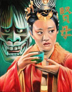 """The Empress"" Tarot Painting by Cody Seekins."