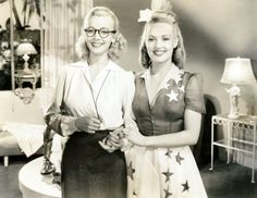 Carole Landis, Betty Grable in Moon Over Miami